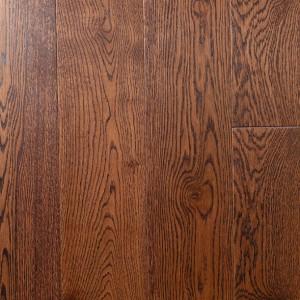 Массивная паркетная доска Дуб рустик под лаком, цвет Бразильский орех (15 х 120 х 500-1000)