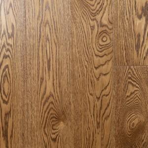 Массивная паркетная доска Дуб натур под лаком, цвет Золотисто-коричневый (15 х 120 х 500-1000) мм